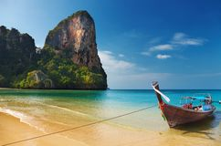 Tropical beach. Andaman Sea, Thailand Stock Images