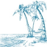 Tropical beach stock illustration