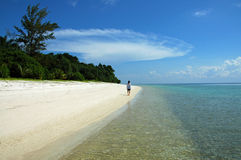 Tropical beach. Setting in Borneo Royalty Free Stock Images