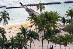 Tropical Beach. Tropical Waikiki Beach, Honolulu, Hawaii Royalty Free Stock Photography