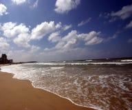 Tropical beach. Sea waves on tropical beach Stock Image