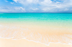 Tropical beach. Clear white and empty tropical beach Stock Photo