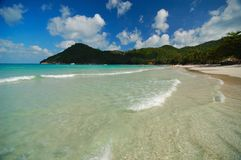 Tropical beach. Very nice clearly beach in Thailand Stock Photo
