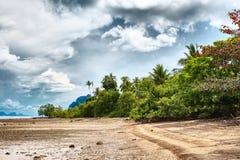 Tropical Beach. Sunny beach and jungle, Koh Lanta, Thailand Stock Images