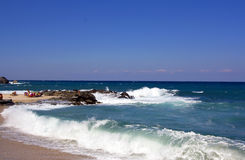 Tropical Beach. At pelio, thessalia Greece Royalty Free Stock Image