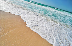Tropical Beach. On Tropical Island royalty free stock photography