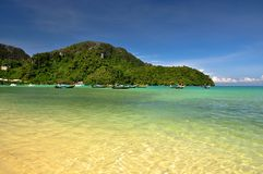 Tropical Beach. Beautiful beach in phi phis island , Phuket, Thailand Royalty Free Stock Photography