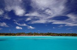Tropical beach. Tropical maldivian beach with turquoise water, coconut palms and coral sand Stock Image