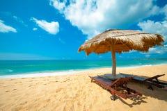Tropical beach. In Sri Lanka Royalty Free Stock Photography
