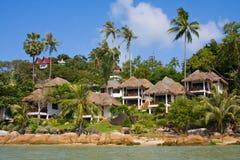 Tropical beach. House on the island Koh Samui, Thailand Royalty Free Stock Photography