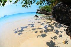 Tropical beach. In fisheye view, Krabi - Thailand stock photos