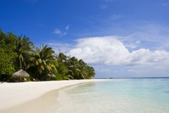 Tropical beach. Just wonderful place for relaxing stock photo