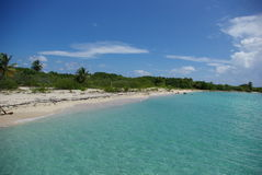 Tropical Beach. Beautiful sunny day at the Icacos island in Puerto Rico stock image