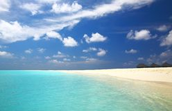 Tropical beach. Nice tropical beach on the island Kuredu in the Indian Ocean, Maldives Stock Image