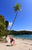 Tropical beach. In Monuel Antonio (Costa Rica Royalty Free Stock Photo