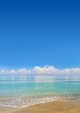 Tropical Beach. Paradise Tropical Beach with nice clouds in the background royalty free stock photo
