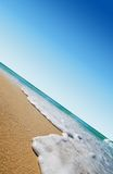 Tropical beach. Sea waves on tropical beach in natural harmony stock images