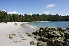 Tropical beach. Beach in Manuel Antonio National Park (Costa Rica Stock Photography