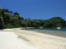 Tropical beach. Brasilian beach located in Angra dos Reis - Rio de Janeiro (Tangua Beach stock image