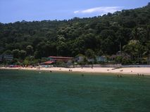 Tropical beach. Brasilian beach located in Angra dos Reis - Rio de Janeiro (Grande Beach Royalty Free Stock Photos