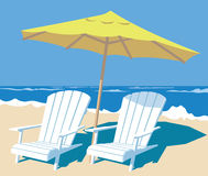 Tropical beach vector illustration