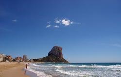 Tropical beach. Mediterranean sea beach - Calpe, Spain Stock Photos