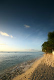 Tropical beach 6. Tropical beach in Barbados, at sunset stock photography