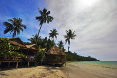 On the tropical beach. Photographed on the beach of Koh Chang island. Thailand Stock Image
