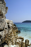Tropical beach. On Thassos island, Greece royalty free stock photography