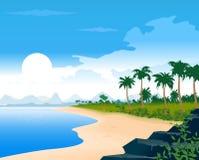 Tropical Beach. Sunrise over a tropical beach Stock Photography