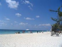 Tropical beach. On bahamas stock image