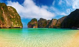 Tropical beach. Maya Bay, Andaman Sea,Thailand Stock Image