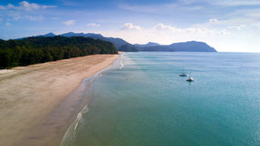 Tropical beach aerial view Stock Image