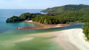 Tropical beach aerial view Stock Images