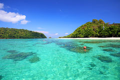 Tropical beach, Andaman Sea koh Rok Royalty Free Stock Photos