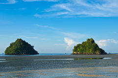 Tropical beach, andaman sea,Krabi Province Thailand Royalty Free Stock Image