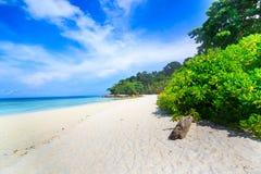 Tropical beach of Andaman Sea in Tachai island Stock Photo