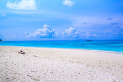 Tropical beach of Andaman Sea in Tachai island Stock Image