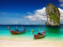 Tropical beach, Andaman Sea, Thailand Stock Images