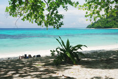 Tropical beach,Andaman Sea Royalty Free Stock Photos
