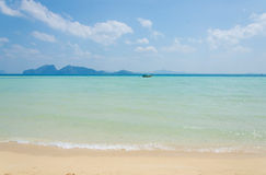 Tropical beach Andaman Sea, Thailand Stock Images