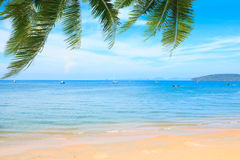 Tropical beach and Andaman sea Stock Photo
