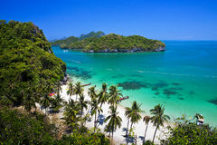 Tropical beach Ang Thong National Park Stock Photography