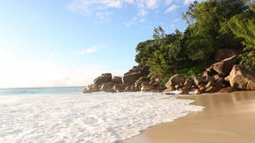 Tropical beach of Anse Georgette, Praslin island, Seychelles. Tropical beach of Anse Georgette, Seychelles stock video
