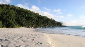 Tropical beach of Anse Georgette, Seychelles. Tropical beach of Anse Georgette, Praslin island, Seychelles stock footage