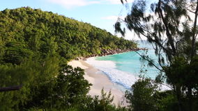 Tropical beach of Anse Georgette, Seychelles. Tropical beach of Anse Georgette, Praslin island, Seychelles stock video
