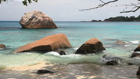 Tropical beach Anse Lazio, Seychelles stock video footage