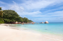 Tropical beach Anse Lazio, Seychelles Royalty Free Stock Images