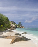 Tropical beach. Anse Source d'Argent, one of famous La Digue's beaches, Seychelles Royalty Free Stock Image