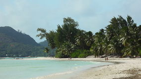 Tropical beach of Anse Volbert, Seychelles. Tropical beach of Anse Volbert at Praslin island, Seychelles stock footage